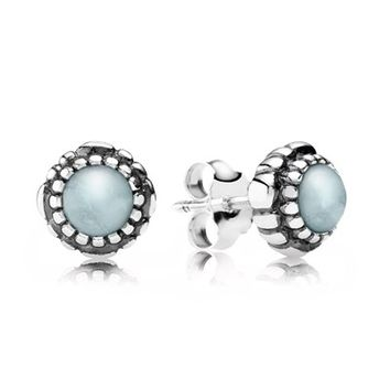 PANDORA | Birthday Blooms, March, Aquamarine