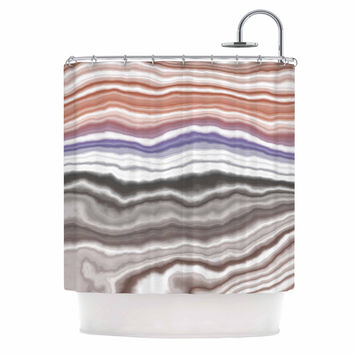 "KESS Original ""Iris Lake Bed"" Geological Abstract Shower Curtain"