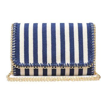 Urban Expressions Navy Clutch