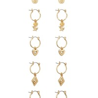 Charm Hoop Earring Set