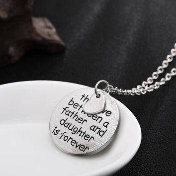 Love Between Father Mother Daughter Son Family Necklaces Love Heart Family Pendants Necklace Jewelry