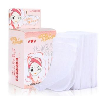 100pcs/box Cotton Pads Makeup Remover Facial Tissue Wipes Pads Cosmetic Pure Nature Tool