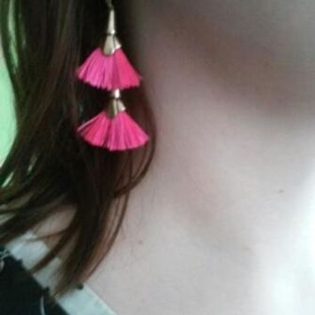 KISS ME Top-Rated Bohemian Earrings for Girls New Design Ethnic Jewelry Alloy Rope Tassel Drop Earrings
