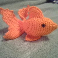 Goldfish Stuffed Animal Crochet Amigurumi by HookAndStitches