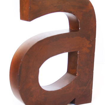 Rustic Metal Letter A