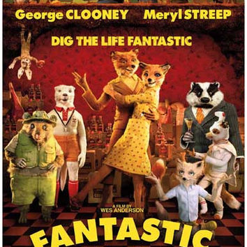 Fantastic Mr Fox Wes Anderson Movie Poster 11x17