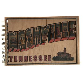 Wood Bound Journal Greetings Nashville