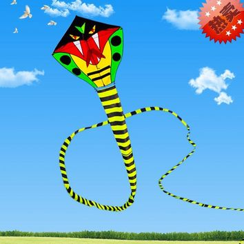 soft cartoon fly dragon 3d Weifang snake kite flying toy ripstop nylon kites cobra single line kites bar windsock kiting rainbow