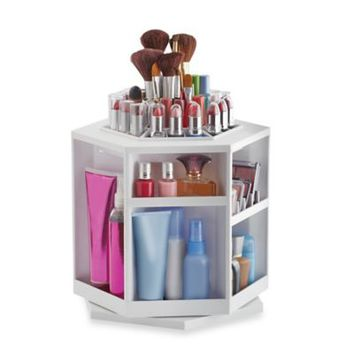 Lori Greiner Spinning Cosmetic Organizer in White