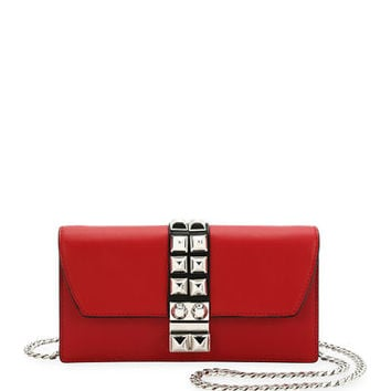 Prada Studded Leather Wallet-on-Chain