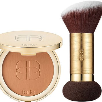 tarte Double Duty Confidence Creamy Powder Foundation w/ Brush — QVC.com