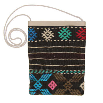 Kalyn Multi Diamond Pattern Kilim Bag