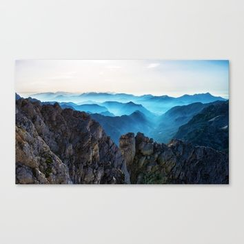 Mountains Breathe Too Canvas Print by Mixed Imagery