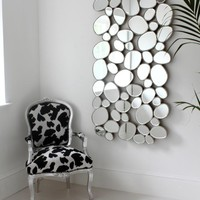 Venetian Silver Pebble Mirror