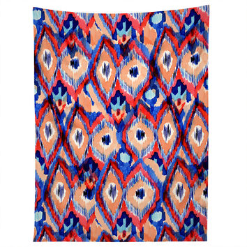 CayenaBlanca Peacock Texture Tapestry