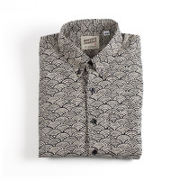 Naked & Famous Denim Regular Shirt - Kimono Waves Print
