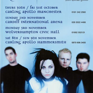 Evanescence Amy Lee UK Tour XL Giant Poster 40x60