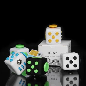 squishy 11 Colors Fun Fidget Cube Toy Dice Anxiety Attention Anti stress Puzzle Magic Relief Adults Funny Fidget Toys antistress