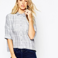 ASOS | ASOS Crinkle Oversize Check Shirt at ASOS