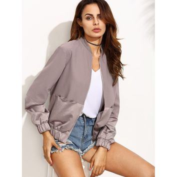 ON SALE!!! Color Block Panel Bomber Jacket - Free Shipping