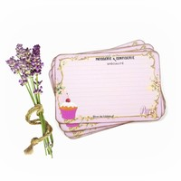 Paris Recipe Cards in Lavender and Purple - French Patisserie - Pack of 12