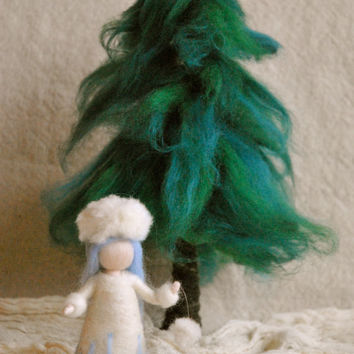 Waldorf inspired needle felted : Snow Child