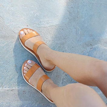 Sandals, Leather sandals, Greek sandals, Platform sandals, Platform shoes, Platform slides,  Leather sandals women, ARCHAIKO