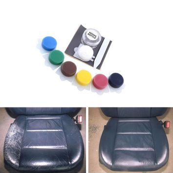 Auto Car Seat Sofa Crack Rip No Heat Liquid Leather Vinyl Repair Kit Car Paint Care Tool Kit