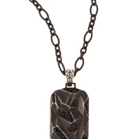 Men's Classic Chain Lava Dog Tag Chain Necklace, Silver - John Hardy