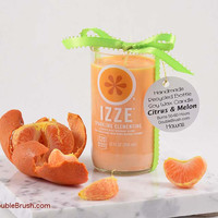 Upcycled Izze Soda Candle Clementine Orange