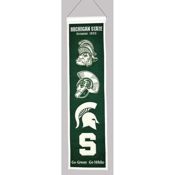 Michigan State Spartans NCAA Heritage Banner (8x32)