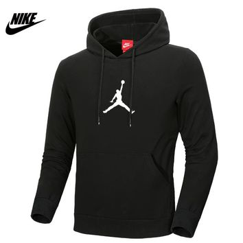 NIKE AIR JORDAN autumn and winter sports basketball training clothes hooded sweater black