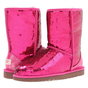 pink classic sparkle uggs