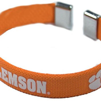 NCAA Officially Licensed Clemson Tigers Ribbon Bracelet