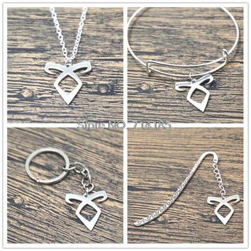 ac spbest 12pcs/lot The ShadowHunters inspired Angelic Power Rune Necklaces bracelets bangles keychain bookmark