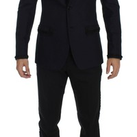 Blue Black Torero Slim 3 Piece Suit Tuxedo