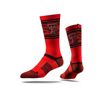 Texas Tech Sock Raider Red Crew Premium Reg