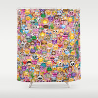 emoji Shower Curtain by Marta Olga Klara