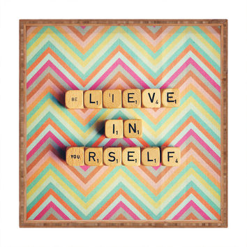 Happee Monkee Believe In Yourself Square Tray