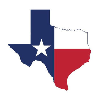 Texas Map flag state bumper sticker label decal white gloss premium fine vinyl