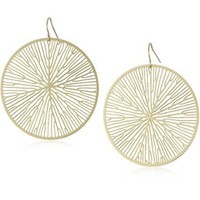 "Nervous System ""Peltate"" Gold-Plated Earrings"