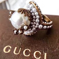 GUCCI New fashion more pearl ring accessories women