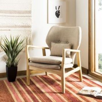 Shop Safavieh Tarly Scandinavian Beige/Natural Accent Chair at Lowes.com