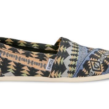 Blue Multi Tribal Woven Women's Classics