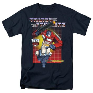 Transformers T-Shirt Optimus Prime Navy Tee