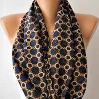 Infinity Scarf Shawl Circle Scarf Loop Scarf  Gift -fatwoman- Chain