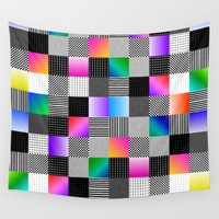 Mondrian Couture Wall Tapestry by Dood_L