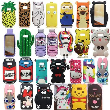 3D Cute Cartoon Mouse Cat Batman Judy Kitty Soft Silicone Back Cover Skin For Samsung Galaxy S8 S8 Plus Phone Cases Funda Coque