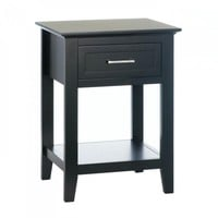 Black Crosstown Side Table