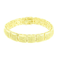 14K Gold Finish Bracelets Kite Design Link Canary Lab Diamonds